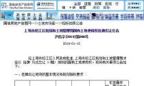 2月20日上海松江区土拍:出让201900601号地块 总面积138991.3平方米