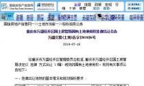 8月15日重庆市土拍:以起始价3008.448万元出让gt-2018-17号地块