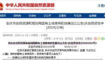 12月20日安庆市土拍:起始价1181万元出让庆自然出字〔2019〕79号地块