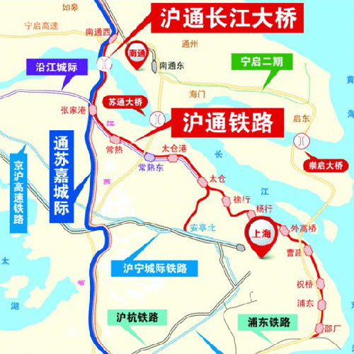 最新消息 沪通长江大桥什么时候通车 大桥位置在哪里 附线路走向