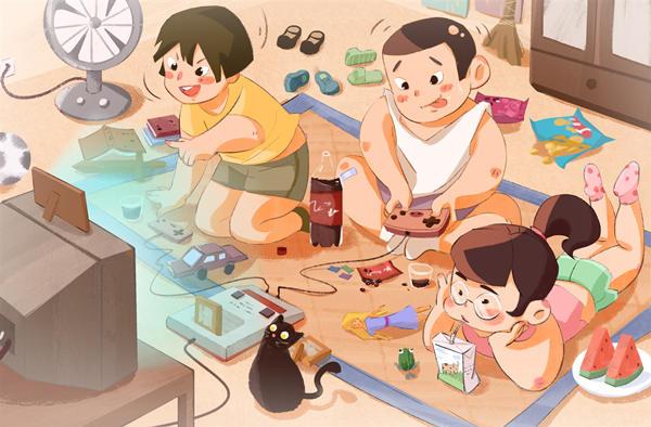 摄图网_401249898_童年回忆-打游戏机(企业商用).jpg